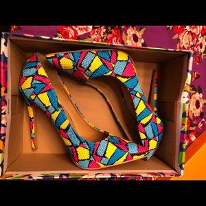Multicolored Heels